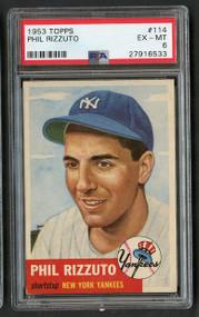 1953 Topps Phil Rizzuto #114 HOF PSA 6 Centered