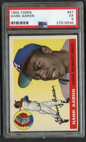1955 Topps Hank Aaron #47 HOF PSA 5
