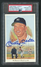 1989 Perez-Steele Mickey Mantle Auto PSA 10 Gem Mint