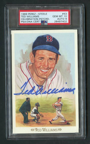 1989 Perez-Steele Ted Williams Auto #43 HOF PSA 10 Gem Mint