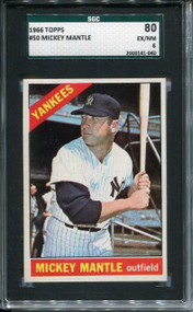 1966 Topps Mickey Mantle #50 SGC 6