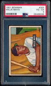 1951 Bowman Willie Mays #305 HOF RC Rookie PSA 4