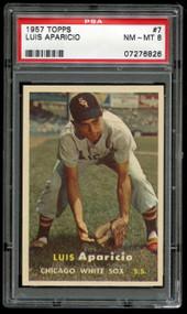 1957 Topps Luis Aparicio HOF White Sox #7 PSA 8