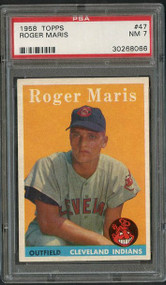 1958 Topps Roger Maris RC Rookie #47 PSA 7 - Centered