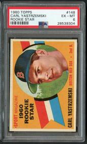 1960 Topps Carl Yastrzemski RC Rookie Star # 148 PSA 6 - Centered