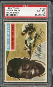 1956 Topps Willie Mays #130 HOF PSA 6 - Centered