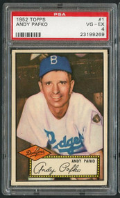 1952 Topps Andy Pafko #1 Red Back PSA 4 - Centered
