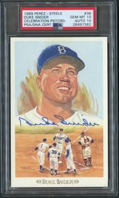 1989 Perez-Steele Duke Snider Autograph HOF Dodgers PSA 10 Gem Mint