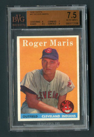 1958 Topps Roger Maris #47 RC Rookie BVG 7.5 - Centered