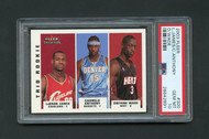 2003 Fleer Lebron James RC Rookie w/Carmelo Anthony and Dwayne Wade #300 PSA 10 Gem Mint