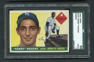 1955 Topps Sandy Koufax Rookie RC #123 HOF SGC 4/50