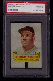 1966 Topps Rub-Offs Mickey Mantle PSA 9 Mint