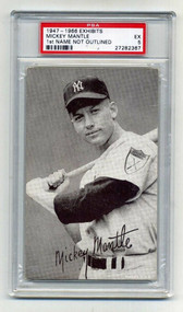1947-66 Exhibits Mickey Mantle HOF PSA 5-1st Name Not Outlined Variation
