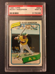 1980 Topps Rickey Henderson Rookie RC #482 HOF PSA 9 Mint - Centered