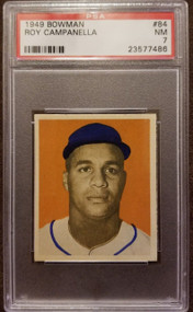 1949 Bowman Ray Campanella Rookie RC #84 HOF PSA 7