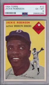 1954 Topps Jackie Robinson #10 HOF PSA 6 - Centered