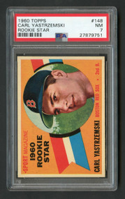1960 Topps Carl Yastrzemski Rookie RC #148 HOF PSA 7- Centered