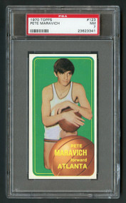 1970 Topps Pete Maravich Rookie RC #123 PSA 7 - Centered and Very High-End