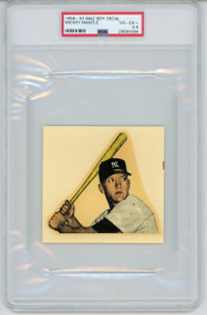 1956-57 Mac Boy Decal Mickey Mantle PSA 4.5 (RARE-VERY LOW POP)