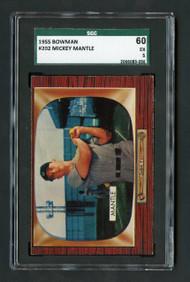 1955 Bowman Mickey Mantle #202 HOF SGC 5/60