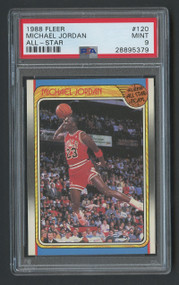 1988 Fleer Michael Jordan All-Star #120 HOF PSA 9 MINT