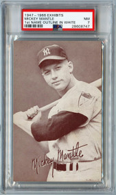 1947-1966 Exhibits Mickey Mantle 1st Name Outline in White Variation PSA 7 Near Mint