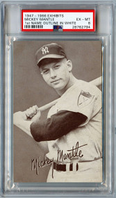 1947-1966 Exhibits Mickey Mantle 1st Name Outline in White Variation PSA 6 UNDERGRADED