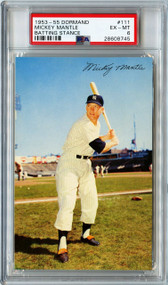 1953-1955 Dormand Mickey Mantle HOF #111 PSA 6