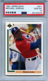 1991 Upper Deck Michael Jordan Baseball RC Rookie Card #SP1 PSA 10 Gem Mint
