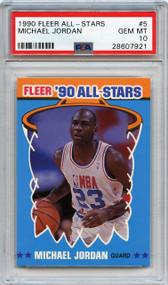 1990 Fleer All-Stars Michael Jordan #5 PSA 10 Gem Mint