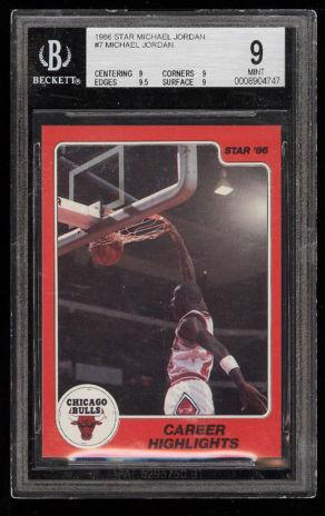 1986 Star Michael Jordan ROOKIE RC #7 BGS 9 MINT