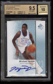 2011 SP Authentic Michael Jordan AUTO #1 BGS 9.5 GEM MINT