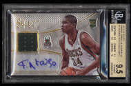 2013 Select Giannis Antetokounmpo ROOKIE RC AUTO PATCH 1 BGS 9.5 GEM-MT w/10 Auto