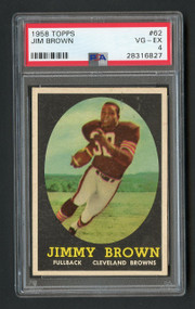1958 Topps Jim Brown RC Rookie #62 HOF PSA 4 Centered
