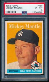 1958 Topps Mickey Mantle #150 HOF PSA 6
