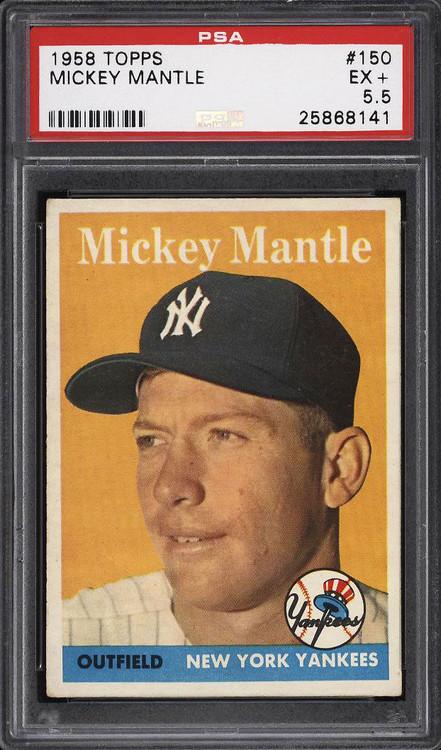 1958 Topps Mickey Mantle #150 HOF PSA 5.5 - Centered