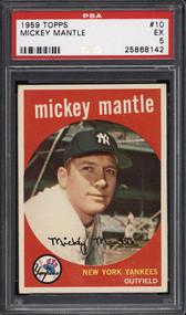 1958 Topps Mickey Mantle #10 HOF PSA 5 - Centered