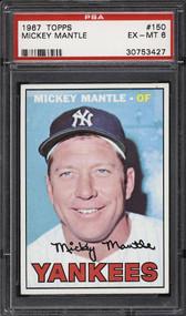 1967 Topps Mickey Mantle #150 HOF PSA 6 - Centered