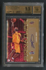2009 Upper Deck Signature Collection Lebron James Auto BGS 9.5/10