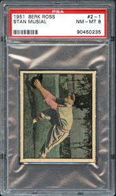 1951 Berk Ross #2-1 Stan Musial PSA 8 NM/MT