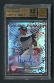 2017 Bowman's Best Aaron Judge Raking Rookies RC Autographs Parallel #RRAJ BGS 9.5 Gem Mint