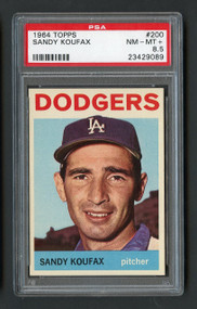 1964 Topps Sandy Koufax #200 HOF PSA 8.5 - Centered & High End