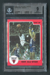 1986 Star Michael Jordan #5 RC Rookie HOF BGS 9 Mint