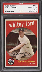 1959 Topps Whitey Ford #430 HOF PSA 8.5 - Centered & High End
