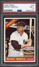 1966 Topps Mickey Mantle #50 HOF PSA 7.5 - Centered