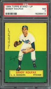 1964 TOPPS STAND-UP SANDY KOUFAX HOF PSA NM 7
