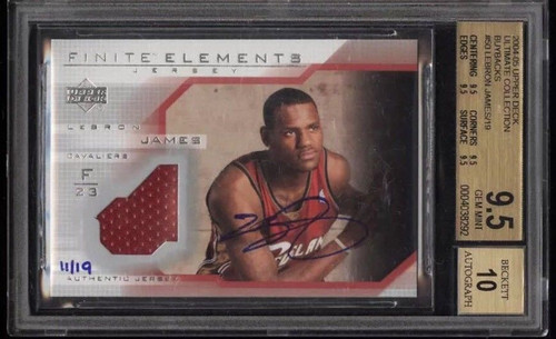 Lebron James 2003 RC Auto 11/19 BGS Jersey Patch Autographed Rookie UDA Buyback