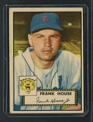 1952 Topps Frank House #146 Rare Yellow Tiger Variation