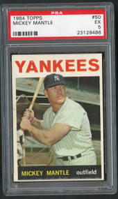 1964 Topps Mickey Mantle #50 PSA 5 - Sharp Corners