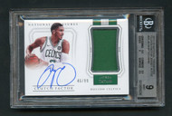 2017 National Treasures Clutch Factor Jayson Tatum Jersey Auto BGS 9 Mint with 10 Auto